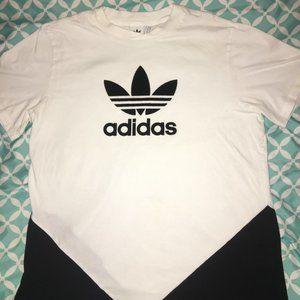 Adidas Logo White & Black Men's Size Large Tshirt